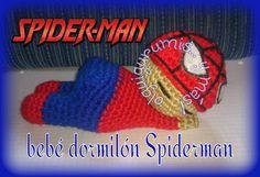 creaciones FOG: amigurumi bebé dormilón Spiderman