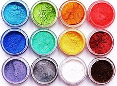 Great for sensitive skin. Can be used in nail polish, in lip gloss, as a highlighter, as an eyeliner, can be used in paints and even scarpbooks.... and of course, as eyeshadows