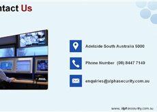Alpha Security Systems is Adelaide's leading security service that offers sophisticated security systems that are highly sensitive towards suspicious activities in and around your premises. We walk the extra mile for our clients and provide the security system installation as well.  Address: 278 Gilbert street, Adelaide SA 5000    Phone: (08) 8447 7149  http://www.alphasecurity.com.au/