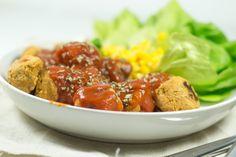 Freud and Fries   Chickpea balls (vegetarian balls)   http://freudandfries.com