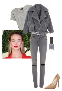 Untitled #46 by jdjmacpherson on Polyvore featuring polyvore, fashion, style, A.P.C., Frame Denim, Jimmy Choo, OPI and clothing