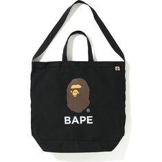 Pre-Owned Bape Shoulder Tote Bag Black Black Tote Bag, Bape, Reusable Tote Bags, Mens Fashion, Shoulder, Hand Bags, Shopping, Taschen, Moda Masculina