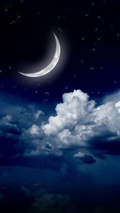 ↑↑TAP AND GET THE FREE APP! Sky Art Moon Clouds Stars HD iPhone 6 Wallpaper