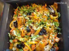 Grilovaný karfiol aj pre vegetariánov (fotorecept) Tofu, Vegetable Pizza, Meat, Chicken, Vegetables, Vegetable Recipes, Veggies, Cubs