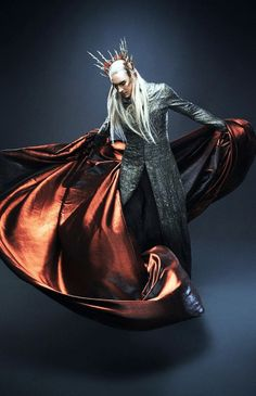 Lee Pace as Thranduil in The Hobbit: The Desolation of Smaug. costume design