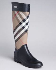 Burberry Rain Boots - Clemence Check