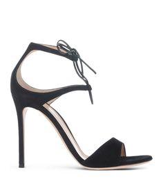 Gianvito Rossi Black Tie Sandal