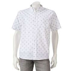 Men's Rogue One: A Star Wars Story Troop Polka Button-Down Shirt, White