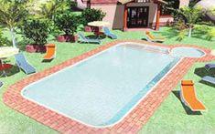 projetos-modelos-piscinas-alvenaria Swimming Pools, Outdoor Decor, Ideas, Home Decor, Green Lawn, Springboard, Play Areas, Bar Grill, Log Projects