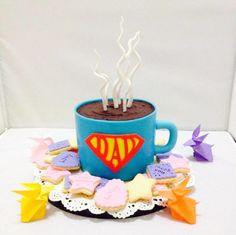 Superhero Coffee Mug Cake for Daddy - Cake by Jac
