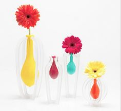 Balloon Vases  When the balloon shrivels, you will know to add more water
