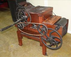 Very rare 10 saw cotton gin made in Bridgewater MA - Jan 2017 Cotton Gin, Cannon, Ms, Auction, Flooring, Antiques, How To Make, Antiquities, Antique