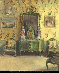 Interior - Walter Gay - The Chinoiserie Room - Correr Museum, Venice