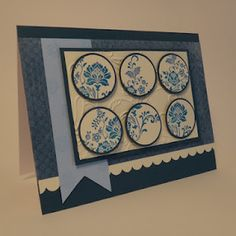Beautiful Card...Circle Punches and Cuttlebug Embossing, border punch