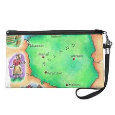 Map of Poland Wristlets