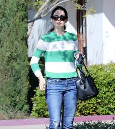 Emmy Rossum in the vkoonyc Cotton Pullover