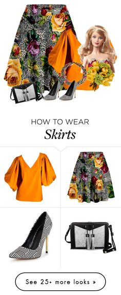 """Animal print skirt"" by sensitiveheart on Polyvore featuring Yves Saint Laurent, Mattel, Carianne Moore and NOVICA"