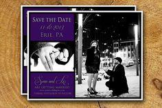 SAVE THE DATE postcard wedding custom design diy by TheLudwigShop, $13.99