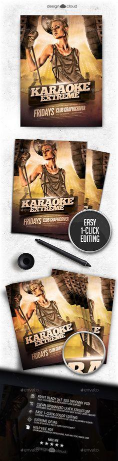 Karaoke Extreme Flyer Template