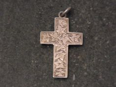 Victorian Solid Silver Cross Pendant Chester by WhiteHartAntiques