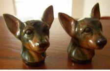 RARE ROSEMEADE DAKOTA POTTERY 2 CHIHUAHUA DOG HEAD SALT & PEPPER SHAKERS