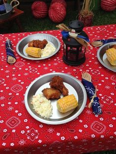 party ideas for old fashioned picnic or barbecue theme Cowboy Theme Party, Horse Party, Farm Party, Bbq Party, Cowboy Birthday Party, Cowgirl Birthday, Farm Birthday, Pirate Party, Birthday Cookout