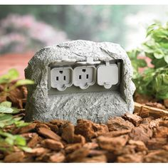 hidden outlets | Home > Outdoor Living > Landscape Rock with Hidden Outlet