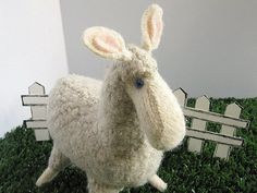 Felt Llama Soft Toy made from recycled wool by 4EweDesigns on Etsy, $40.00