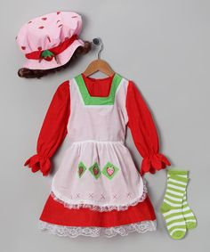 Red Country Girl Dress-Up Set - Girls