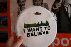 I Want To Believe Cross Stitch Pattern PDF by mooseundsquirrel, $4.00 want this SO HARD