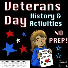 Celebrate Veterans Day with this NO PREP minilesson. Have students read a nonfiction text about Veterans Day and answer reading comprehension questions about Veterans Day. Students will write a letter to a soldier and use an acrostic poem to think about why we honor veterans. With this lesson, students will learn about the history of Veterans Day and how that history impacts Veterans Day today.
