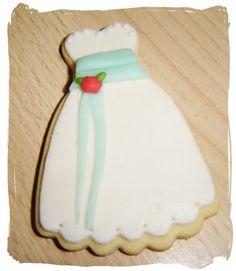 Galletas decoradas vestido con fondant