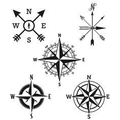 Compass Rose Cuttable Designs