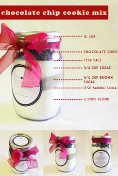 cookie mix in a jar! Everyone is getting these for christmas!