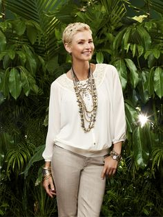 The White Summer Blouse – from embellished to breezy, it's having a cool moment. #Cool #chicos