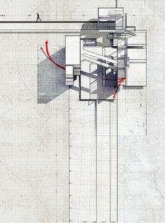 mixed media collage  by artist/architect  Lekan Jeyifous  Brooklyn, New York,