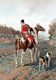 Veneur à cheval - Charles-Ferdinand Condamy (1855 - 1913)