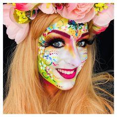 Sokkertantes Paintertainment by Ingrid Breugelmans Adult Face Painting, Fantasy Make Up, Face Paint Makeup, Famous Last Words, Face Art, Fashion Art, Carnival, Halloween Face Makeup, Classic