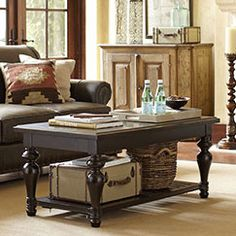 Spencer Collection | With an update on traditional styling, the Spencer collection conveys a fresh elegance. Its distinguished styling is accented by hardwoods and veneers in a warm black finish.