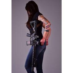 "Maria packing some serious heat! Sweet Noveske Rifleworks 13.7"" Build w/ Mega Forged Receiver set."
