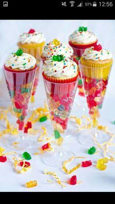 Cupcake in glas/plastic