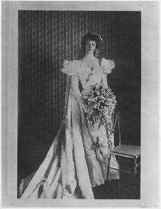 Eleanor Roosevelt in her wedding dress