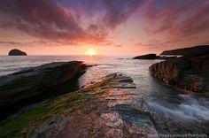 Trebarwith strand, Cornwall, UK.