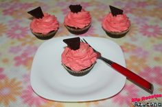 Cupcakes de chocolate, naranja y nata. (Sin Azúcar)