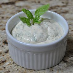 Basil Dip - use it for crackers, veggies, chips, with shrimp or scallops, or as a condiment for sandwiches!