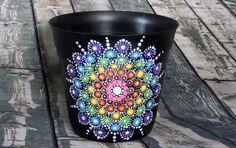 Artículos similares a Jewel Drop Mandala Flower Pots en Etsy