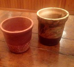 """""""Flower Pot"""" inspired bowls. Award winner on left, Maple burl and Cherry. Client commissioned bowl on right, Bubinga and Ambrosia Maple, this bowl is a progression piece. By Mike Drennan of Blackthorn Craft"""