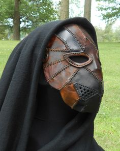 Animal Looking Leather Brown & Black Mask Beast Bear Panther Creature Dieselpunk Steampunk Spooky Halloween Cosplay LARP by LAFuellingFacades on Etsy https://www.etsy.com/listing/552458187/animal-looking-leather-brown-black-mask