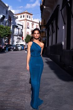 Fashion Evening Gowns Formal Dresses for Girl Blue Gown – inloveshe Dresses Elegant, Formal Evening Dresses, Sexy Dresses, Beautiful Dresses, Prom Dresses, Pretty Dresses, Summer Dresses, Casual Dresses, Wedding Dresses