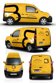 Design a smart and eye-catchy van wrap for BOLT! Our company provides platform for courier services (incl. documents, parcels, food and furniture) and our target . Graphisches Design, Truck Design, Van Signage, Car Lettering, Vehicle Signage, Van Car, Car Signs, Vans Logo, Transporter